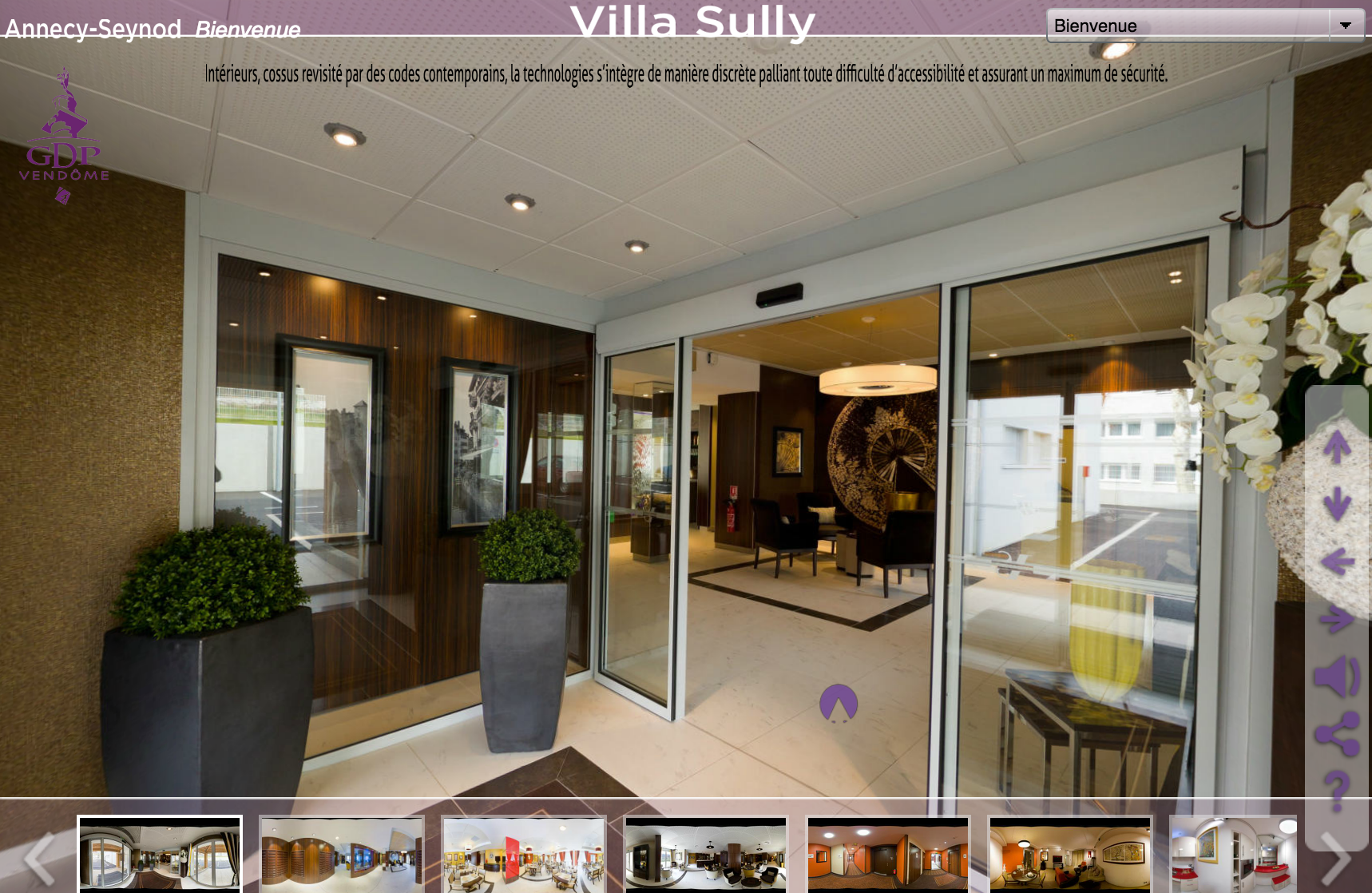 Visite Virtuelle Villa Sully